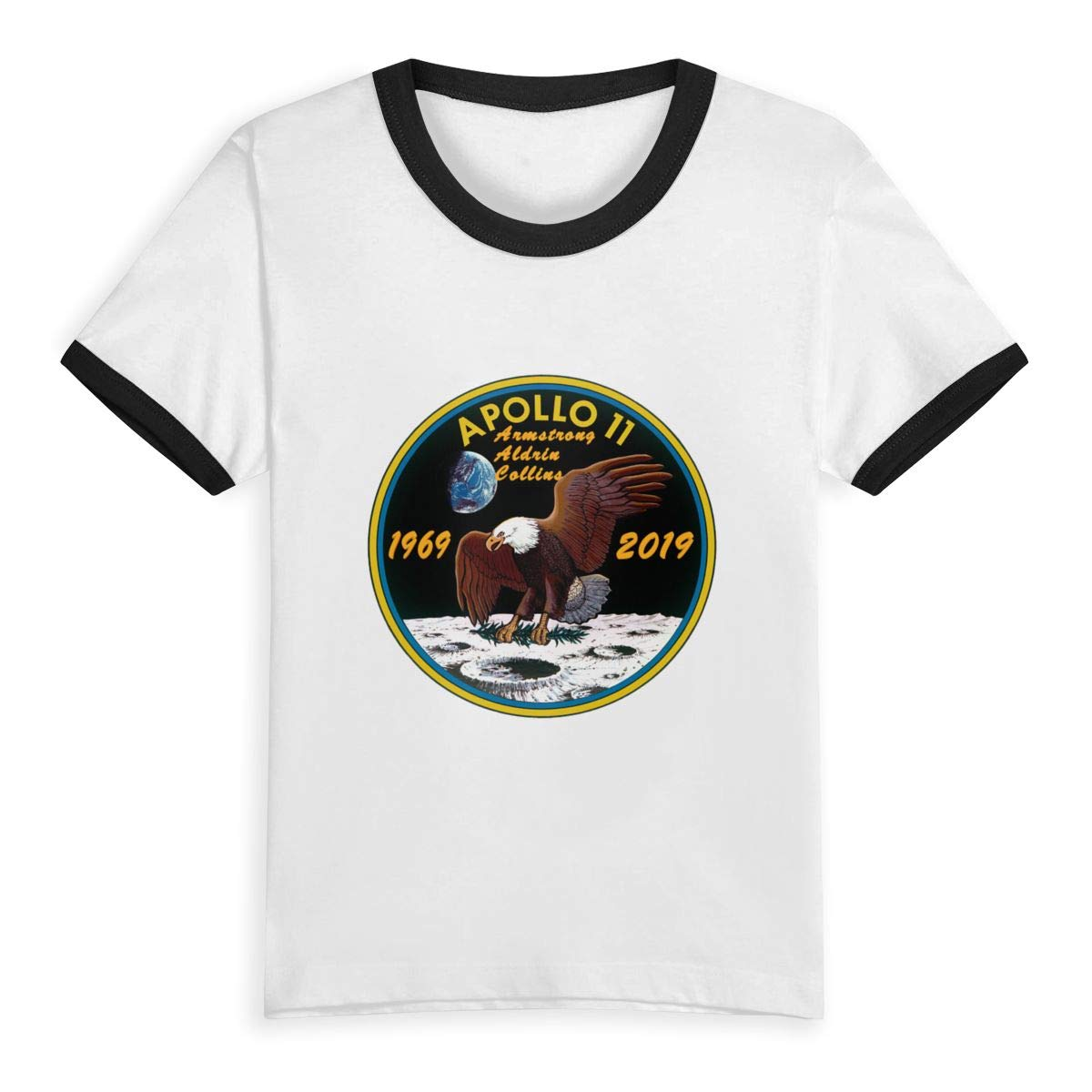 Apollo 11 50th Anniversary Logo Unisex Youths Short Sleeve T-Shirt Kids T-Shirt Tops