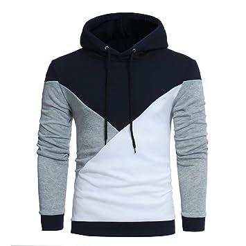 hombre abrigo capucha larga ropa manga chaqueta Sudadera Tops Retro azqwwg