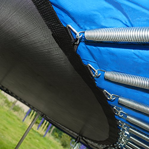 ORCC 15FT 12FT Trampoline with Enclosure Net and Wind Stakes Rain Cover...