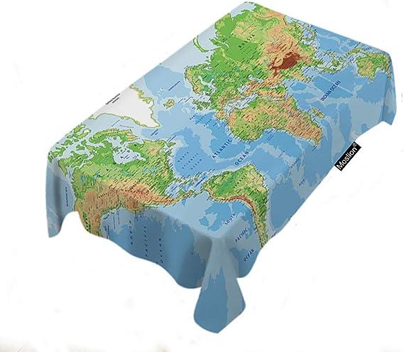 Mapa Mantel Decoración para el hogar Mapa del mundo País