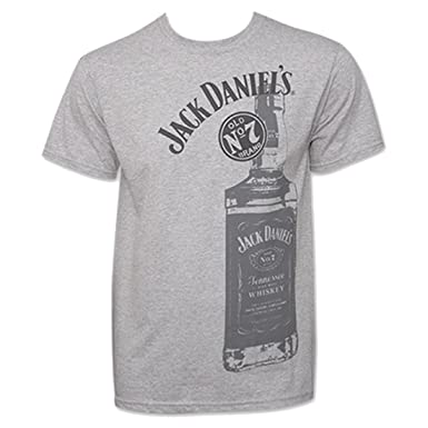 6c6d5c0fc Image Unavailable. Image not available for. Color: Jack Daniels Men's  Daniel's Tennessee Whiskey Bottle T-Shirt ...
