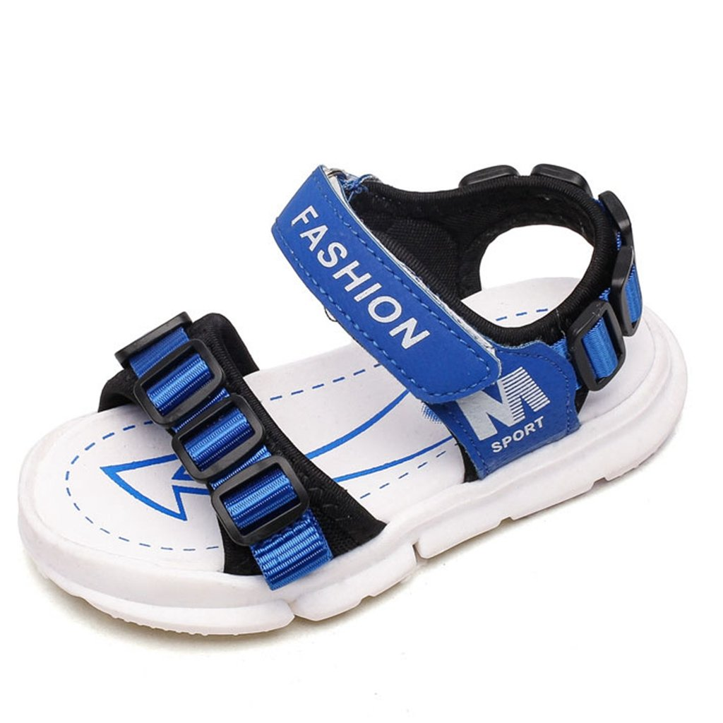Boy and Girl's Adjustable Strap Sports Sandals Kids Summer Lightweight Outdoor Slip On Athletic Shoes