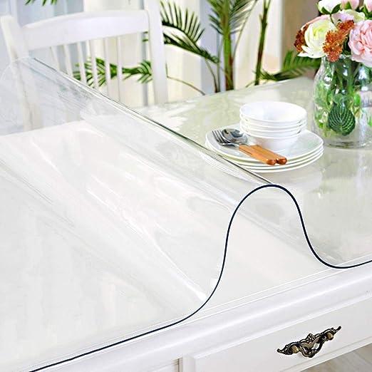 YJJ 1,5 mm de espesor transparente mesa de plástico protector de ...