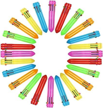 4 Colore Penna a Sfera per Ufficio Scuola Forniture Studenti Bambini Regalo 20 Pezzi Penne a Sfera Multicolore 4-in-1 Retrattile Penne a Sfera Scrittura liscia