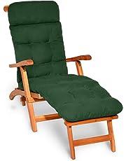 Beautissu Flair DC Cojín- colchoneta para Tumbona reclinable 200x50x8 cm con Relleno de gomaespuma -