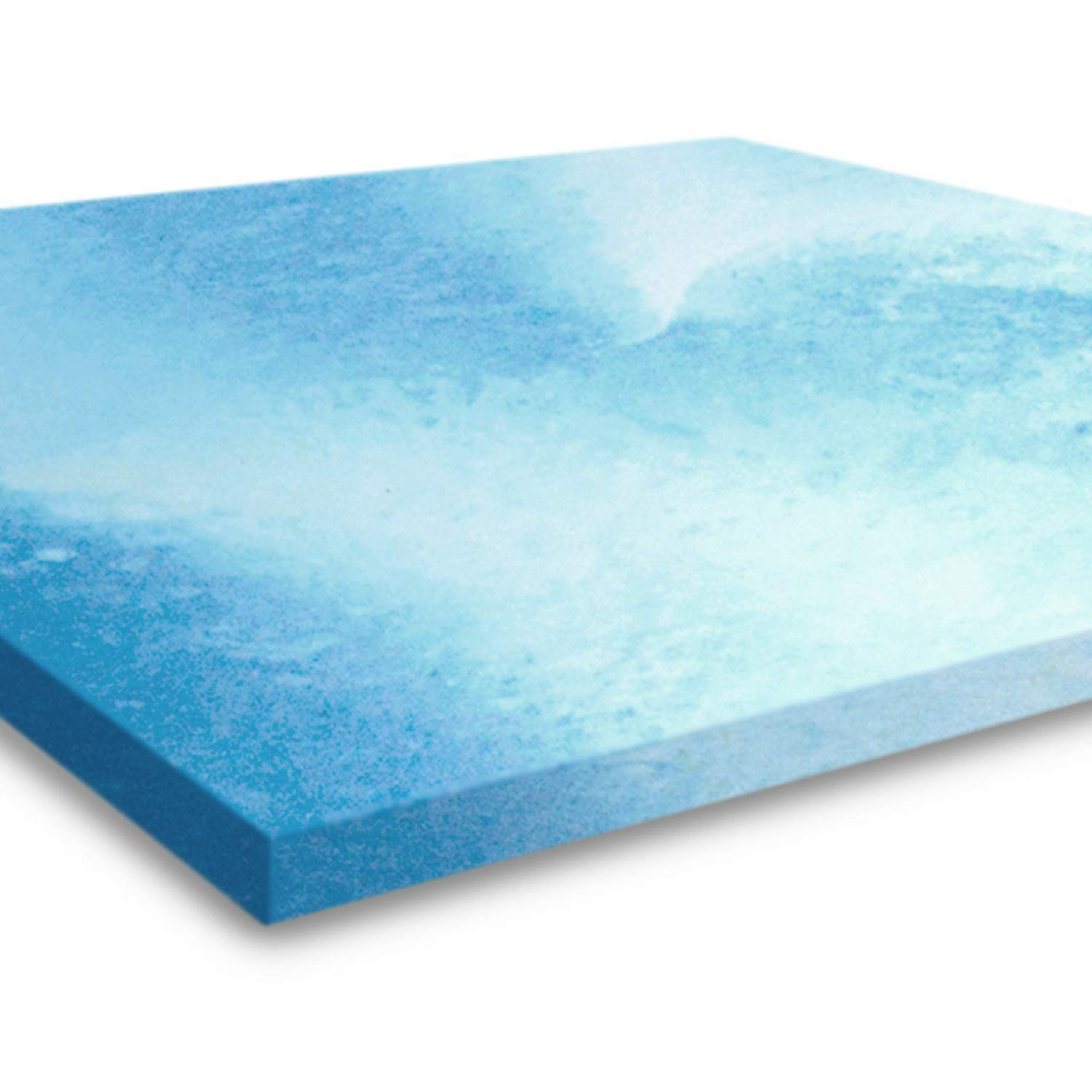 Gel Memory Foam Mattress Topper, Queen Size 2 Inch Thick, Ultra-Premium Gel-Infused Memory Foam Mattress/Bed Topper/Pad for a Cooling, Conforming, and Comfortable Sleep. Made in The USA