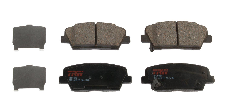 Brake System TRW TPC1439 Premium Ceramic Rear Disc Brake Pad Set Brake Pads