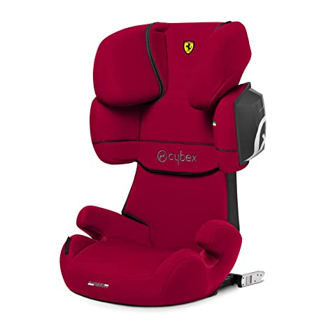 CYBEX Silver Scuderia Ferrari Solution X2,Fix Child\u0027s Car Seat, for Cars  with and Without ISOFIX, Group 2/3 (15,36 kg), from Approx. 3 to Approx. 12