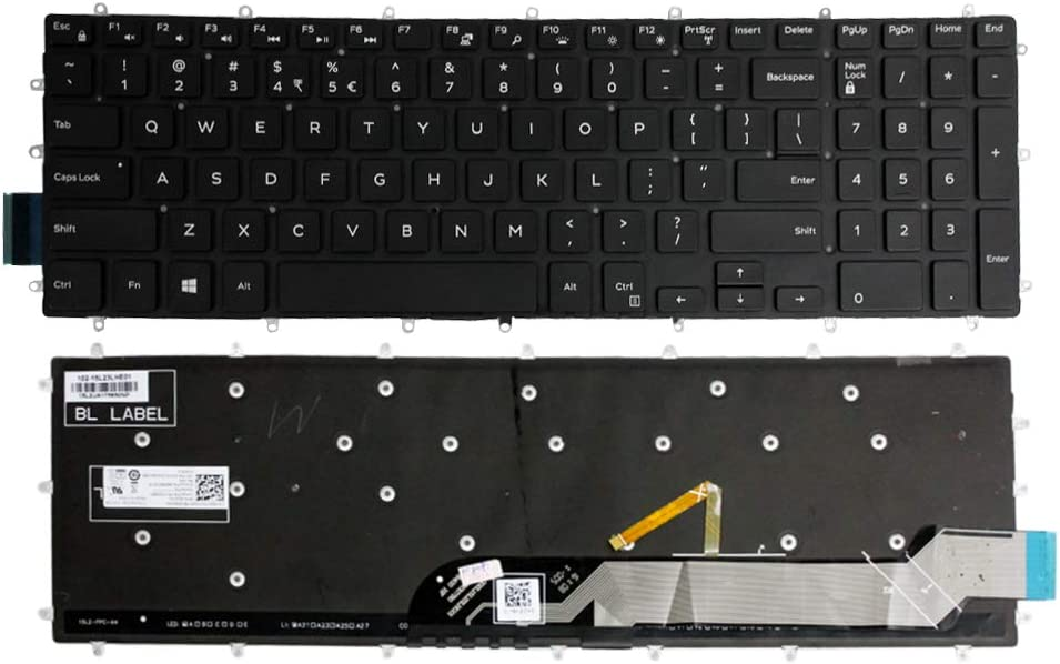 GinTai Laptop US Keyboard with Backlit Replacement for DELL G3 3579 3779 G5 5587 G7 7588