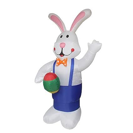 Amazon.com: 7 hinchable iluminado de pie Eater conejo con ...