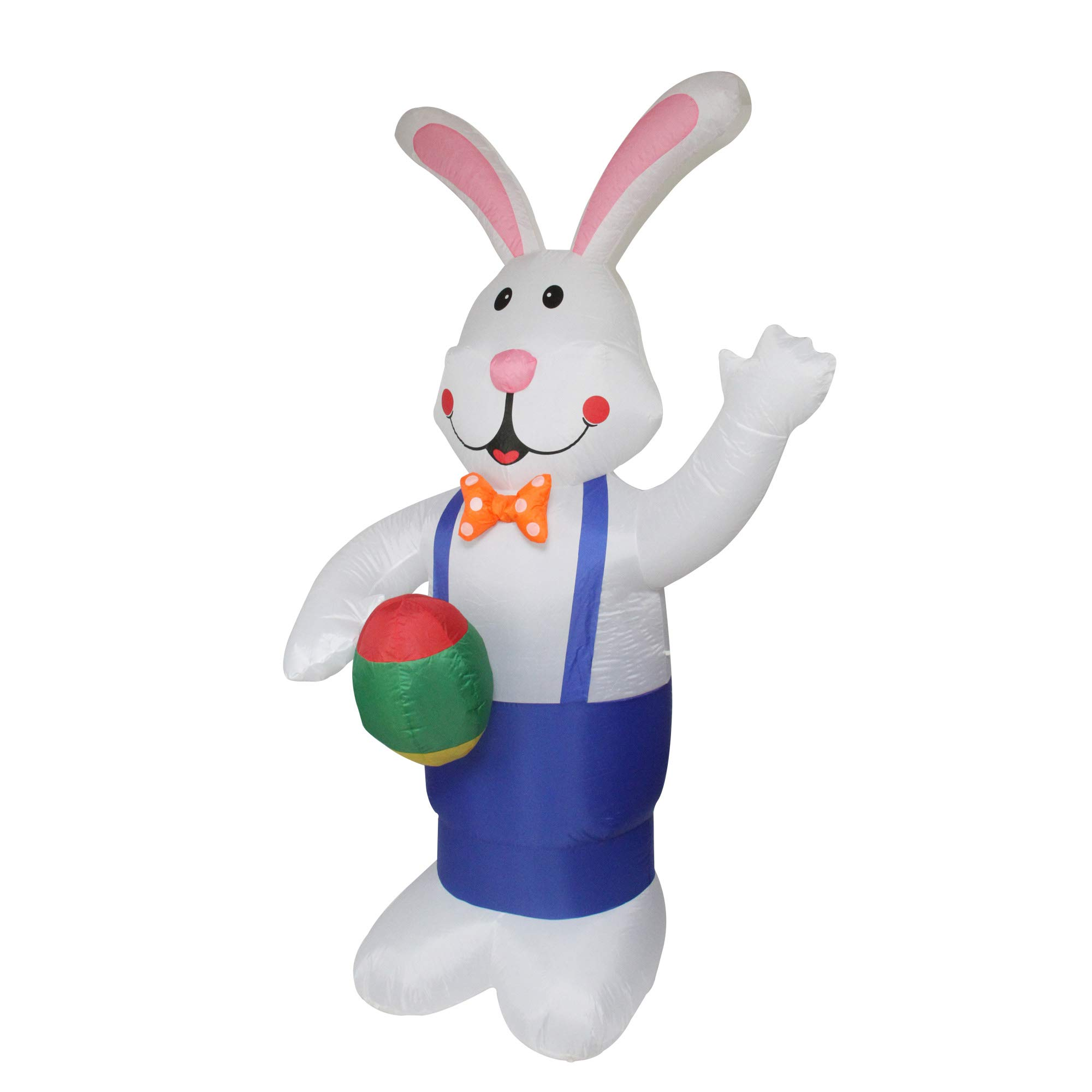 Northlight 7' Inflatable Lighted Standing Easter Bunny with Eggs Outdoor Decoration