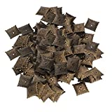 Yibuy 500pcs Iron Bronze Antique Square Upholstery Nails Hardware Tacks Studs