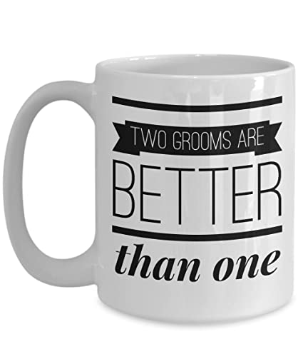Amazoncom Two Grooms Are Better Than One Gift Ideas Gay Couple