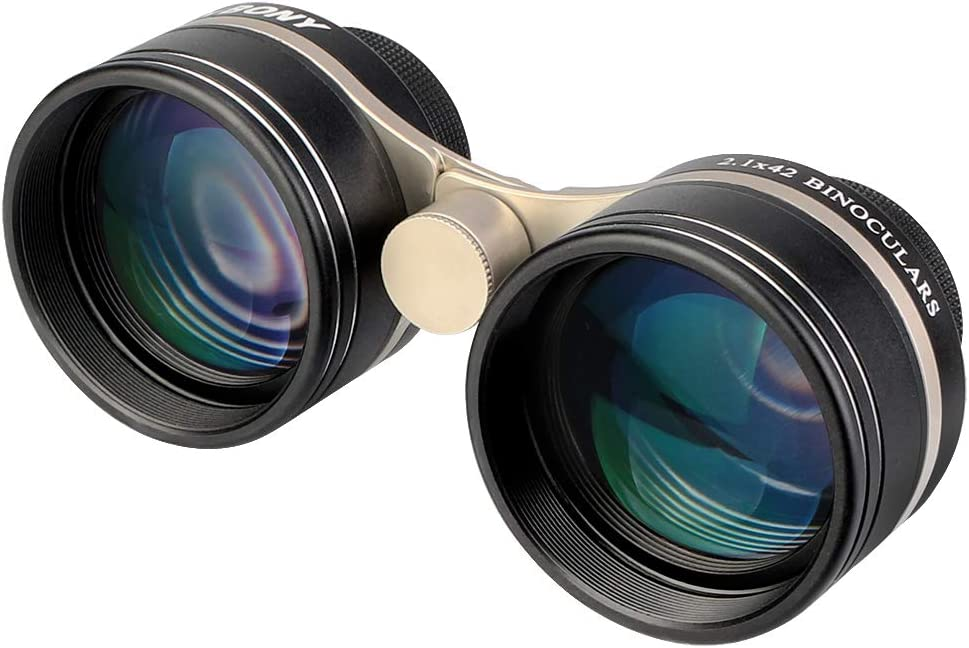 SVBONY SV407 Binoculars Wide Angle,for Adults,2.1x42mm, High Power Binoculars, IPX6 Waterproof,for Stargazing,Atronomy,Stars,Sky Watching,Planets Theater Perform,Museum,Bird Watching,Wildlife Viewing