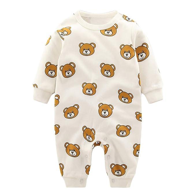 327a7bdb326 Image Unavailable. Image not available for. Color  Newborn Baby Romper  Infant Boys Girls Cartoon Pajamas Long Sleeve Sleepwear Onesie Jumpsuit  Bodysuit ...