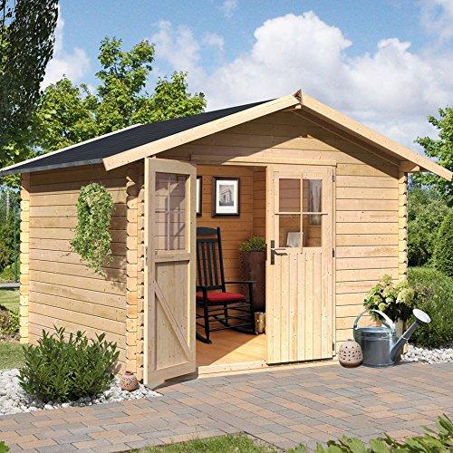 Karibu Woodfeeling Gartenhaus Süden 6 natur Blockbohle 28 mm