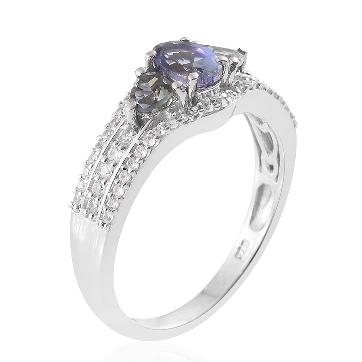 free tanzanite nickel and pin in ring quartz size platinum overlay sterling peacock silver over