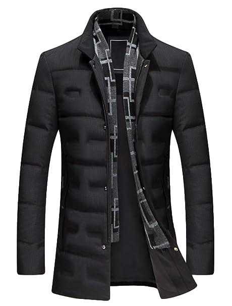 Vogstyle Uomo Invernale Giubbotto Piumino Caldo Slim Fit Cappotto con  Sciarpa Collare  Amazon.it  Abbigliamento 9f2616b8752