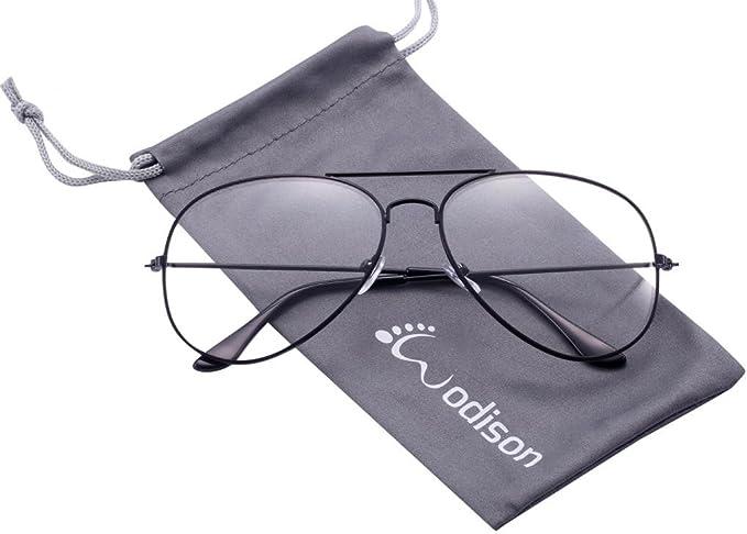 f07ddded0dbd WODISON Kids Classic Aviator Eyeglasses Children Clear Lens Retro Plain Eyewear  Metal Frame Glasses Age 2