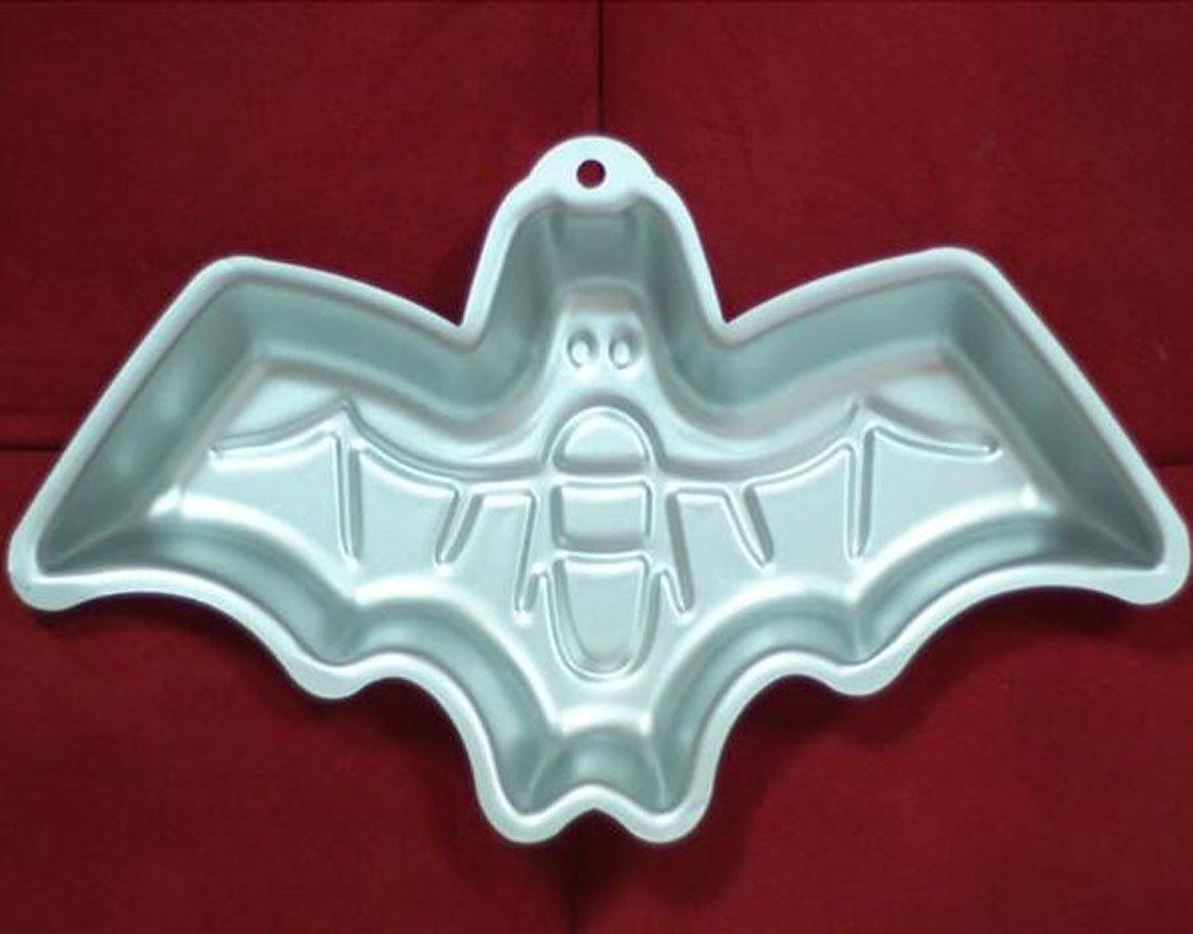 WJSYSHOP 12 Inch Bat Shaped Aluminum 3D Cake Mold Baking Mould Tin Cake Pan for Halloween Party Bat WJSY-230