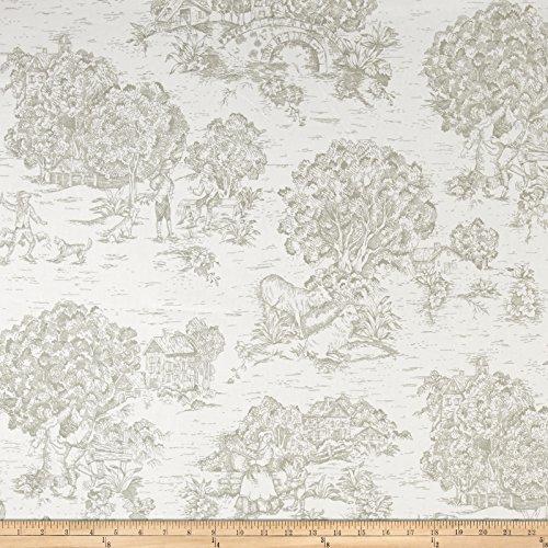 Santee Print Works Pastoral Toile Ivory/Taupe