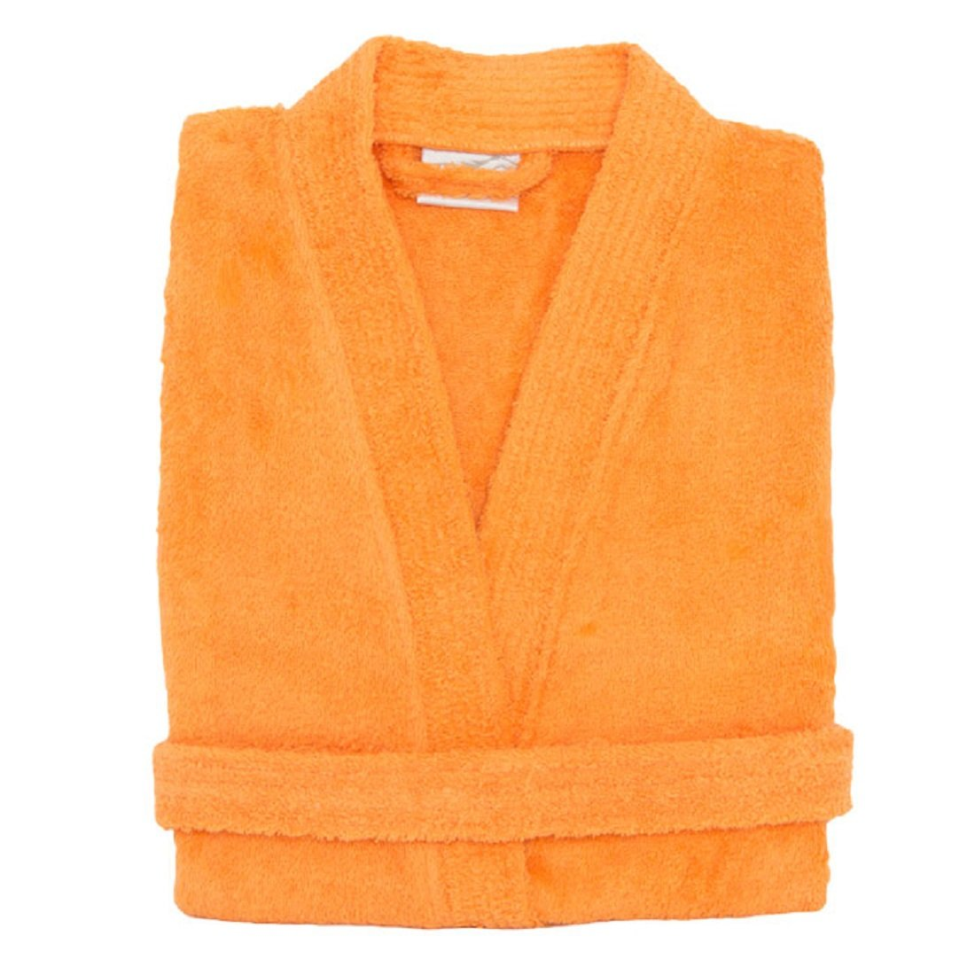 Terry Cloth Bathrobe%100 Cotton Men's Women's Orange Robe