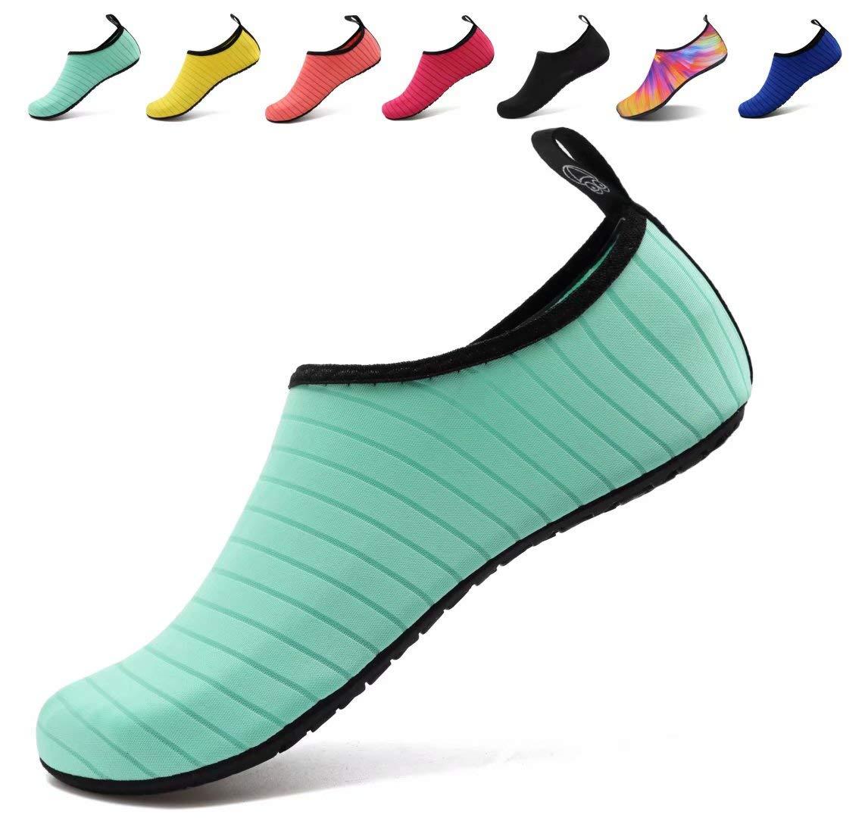 AoSiFu Water Sports Shoes for Men Pool Beach Swim Exercise US 7.5-8.5 Women, 6.5-7.5 Men 38-39 Green