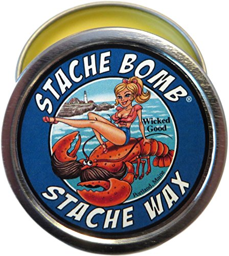 Wicked Good Stache Bomb Stache Wax Mustache Wax Made In Maine- Ocean, Sea, and Beach Scented Moustache Wax