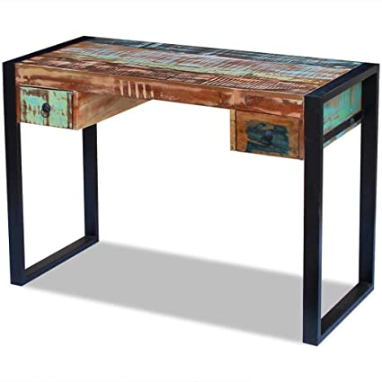 Exceptionnel Industrial Computer Desk Vintage Home Office Furniture PC Laptop Study  Writing Table Retro Indian Style Storage