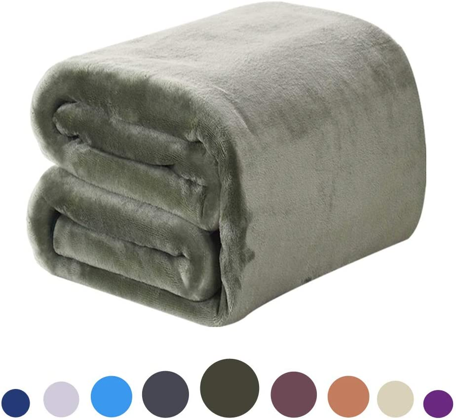 DREAMFLYLIFE Luxury Fleece Blanket All Season Thick Blanket Super Soft Blanket Bed Warm Blanket Couch Blanket (Dark Grey, Queen_): Home & Kitchen