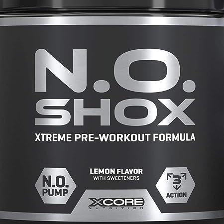 N.O Shox Extreme Workout Pumps Powder 660g de Xcore ...