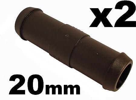 Schlauchverbinder Kunststoff Gerade X2 Außendurchmesser 20mm Für Schläuchen Auto