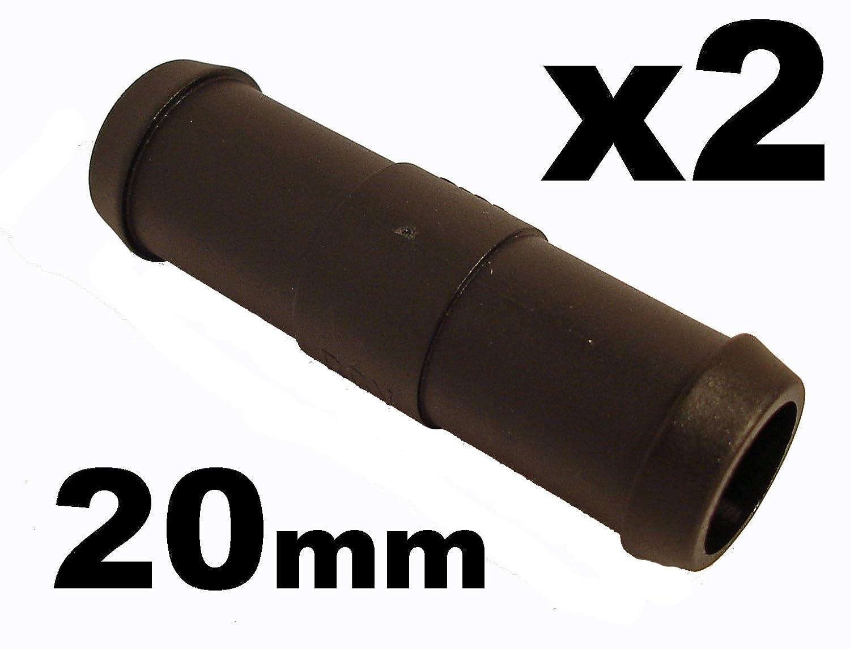 2x Tubos conector de la manguera - Recto Pipa Conector Unió n Aire Combustible Agua 20mm - Franqueo libre! 227sparts HHC-0001G0002
