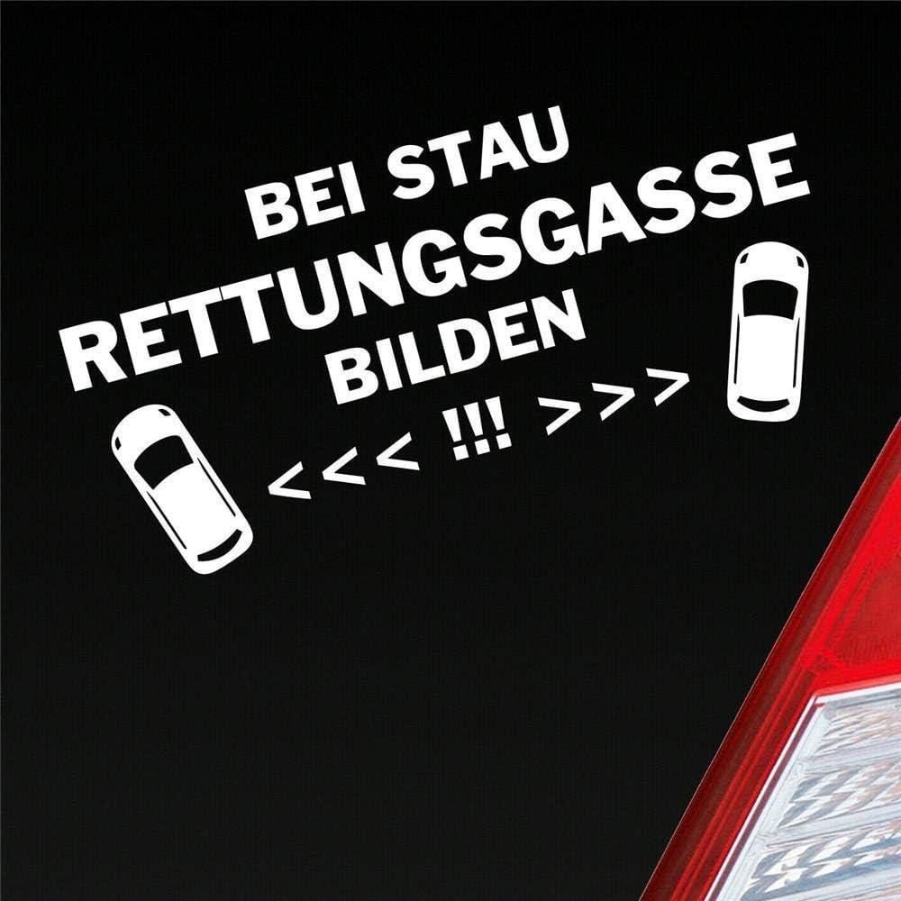 Bei Stau Rettungsgasse Bilden Feuerwehr Leben Retten Auto Aufkleber Sticker Heckscheibenaufkleber Auto