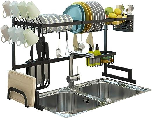 Taza De Cocina Utensilio Plato Escurridor Plato de almacenamiento Organizador de secado del sostenedor del estante