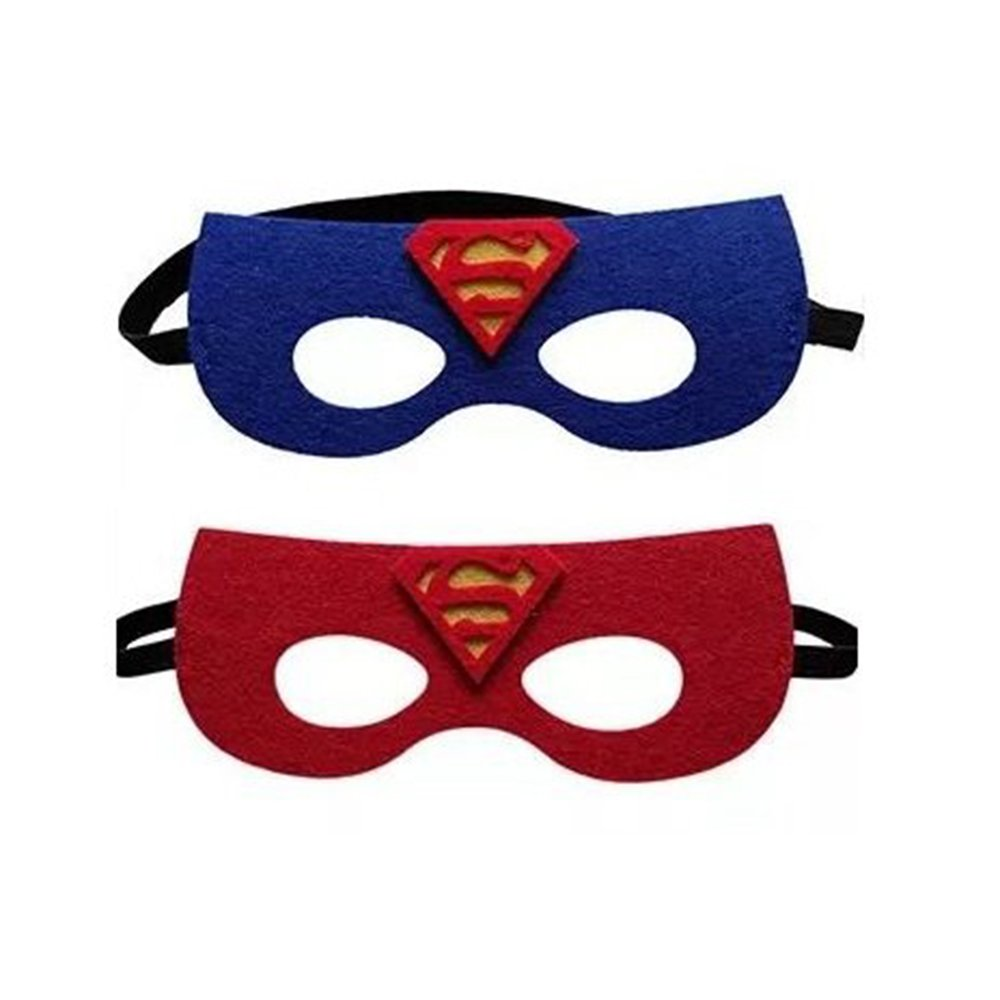 12 Pieces Superheroes Party Fun Cosplay Felt Masks For Boys Girls JDProvisions