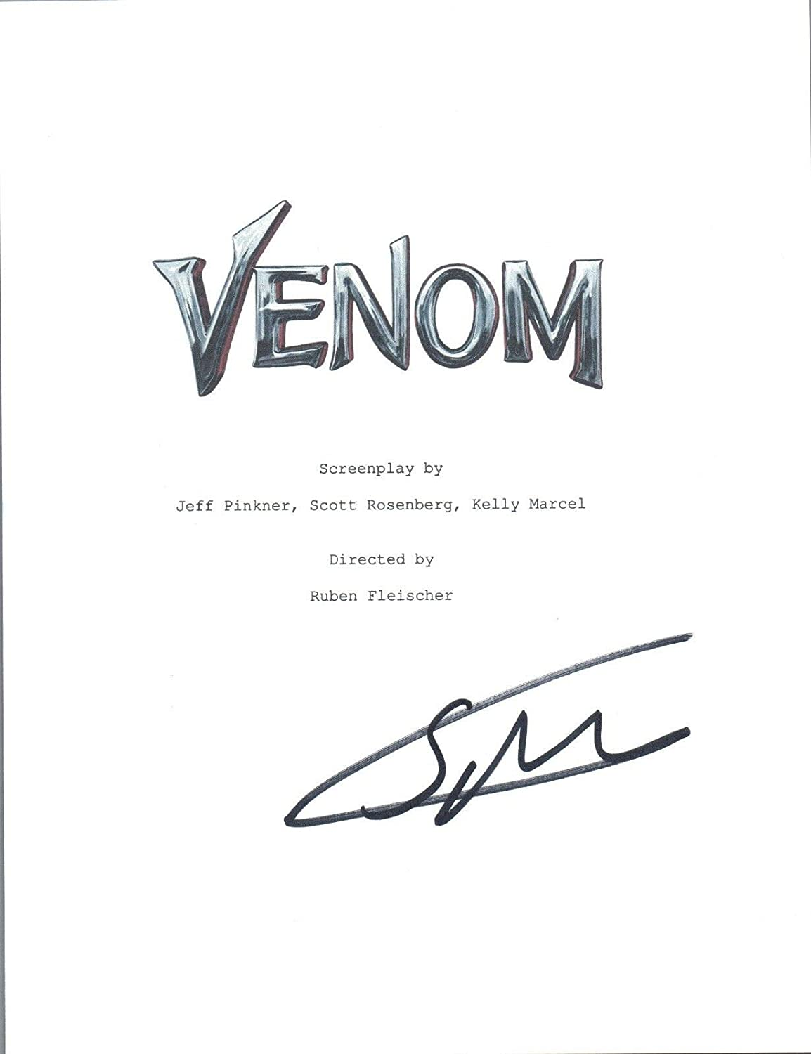 Scott Rosenberg Signed Autographed VENOM Movie Script Cover Screenwriter COA Unbranded