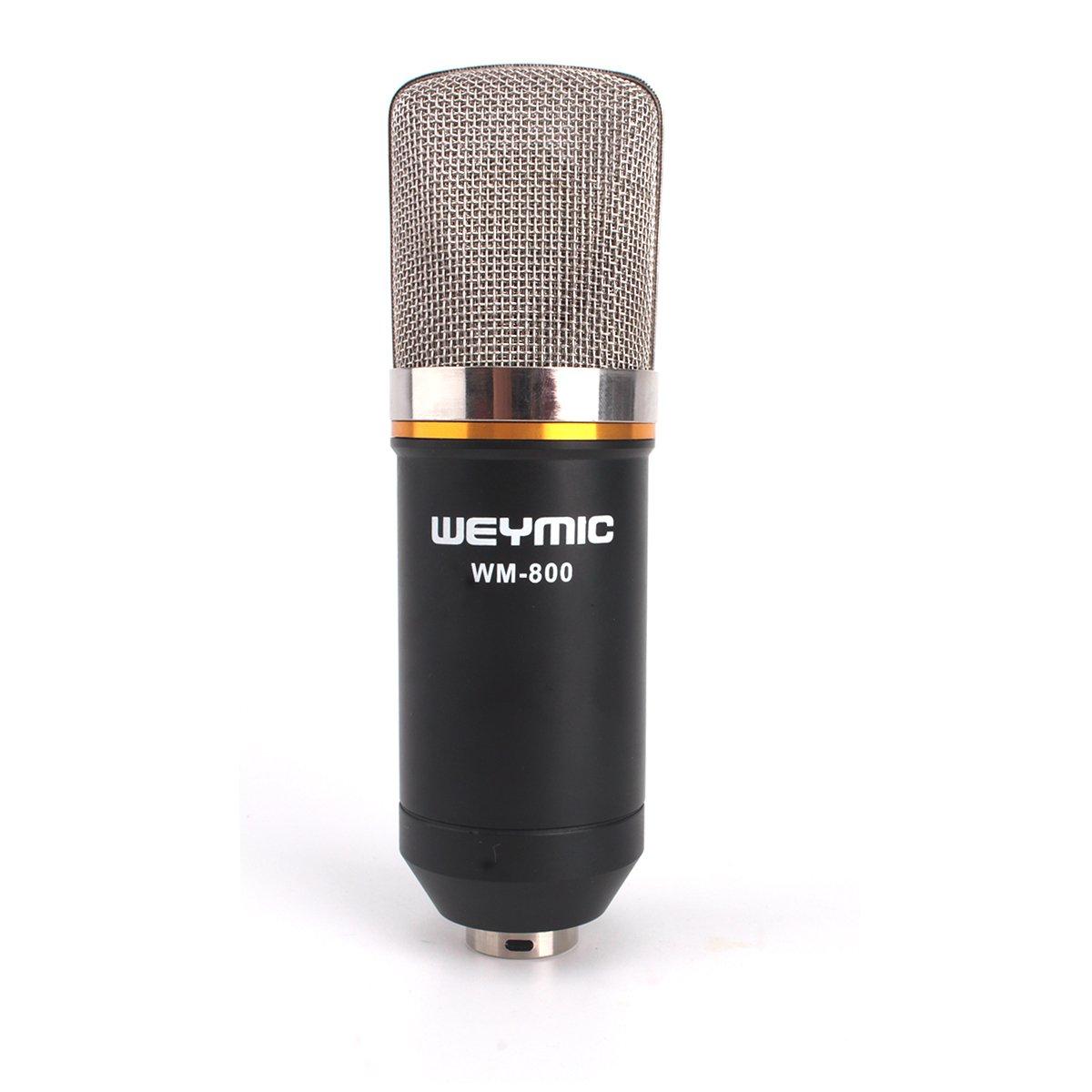 ZRAMO Large Diagram Condenser Mics Recording Microphone Studio Professional mic for Computer PC Use, Best Recording Studio Equipment for Recording (black-800)