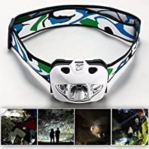 Xcellent Global Professional Compact Light Weight and High Power 160 Lumens Cree R3 White Light LED Headlamp - Red, White, Flashing and Dimmable Modes perfect for Night Running, Hunting, Reading, Hiking, Fishing, Camping, Jogging, Walking. Splash Proof Durable Casing, Easy to Carry, Convenient to Use. Come With ONE YEAR Limited Warranty + One bonus Gift UV Light Keychain M-LD037