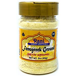 Rani Fenugreek (Methi) Seeds Ground Powder 3oz (85g) Trigonella foenum graecum   Gluten Free   Non-GMO (used in cooking &Ayurvedic spice)