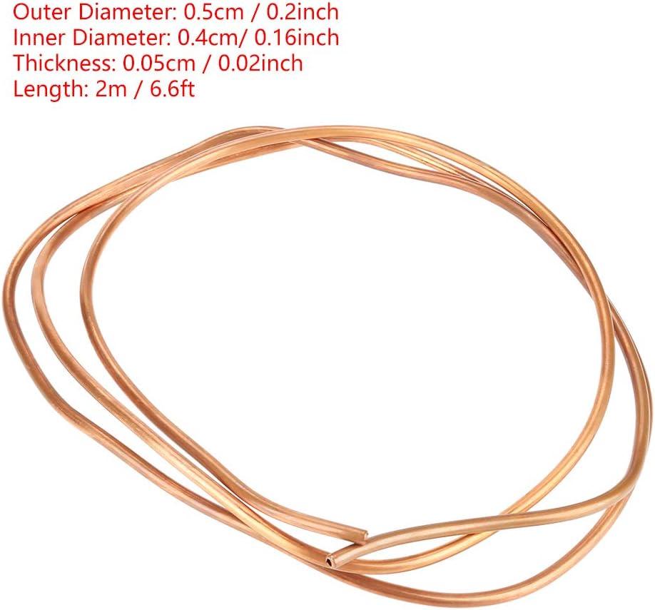 Nuevo 2m T2 suave cobre bobina Tubo Caño ID 4mm X 5mm Od Para Refrigeración Plomería