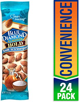 Blue Diamond 24-Pack of 1.5 Ounce Bold Salt & Vinegar Almonds