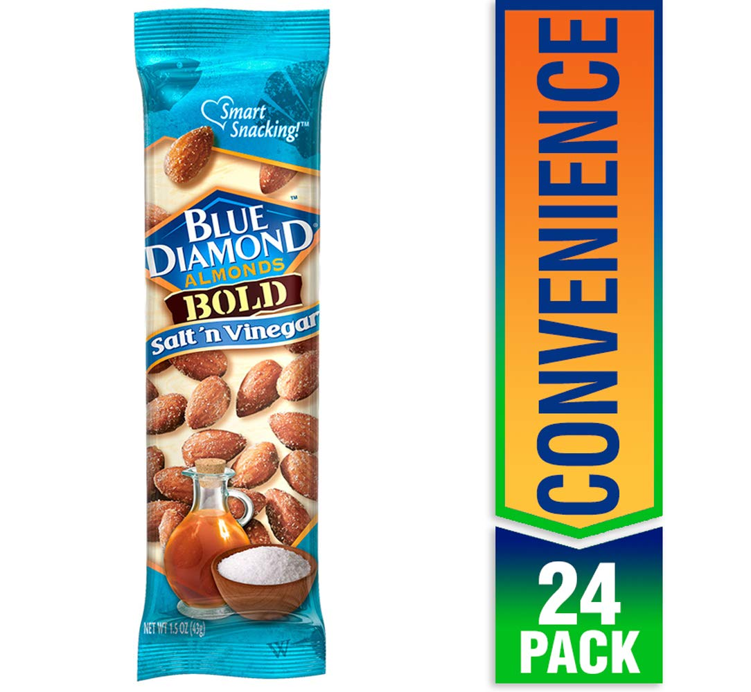 Blue Diamond Almonds, Bold Salt & Vinegar, 1.5 Ounce (Pack of 24)
