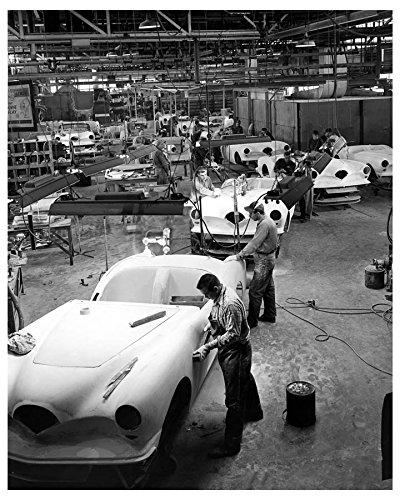 1954 Kaiser Darrin Final Assembly Line Factory Photo