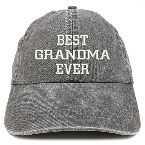 Trendy Apparel Shop Best Grandma Ever Embroidered Pigment Dyed Low Profile Cotton Cap