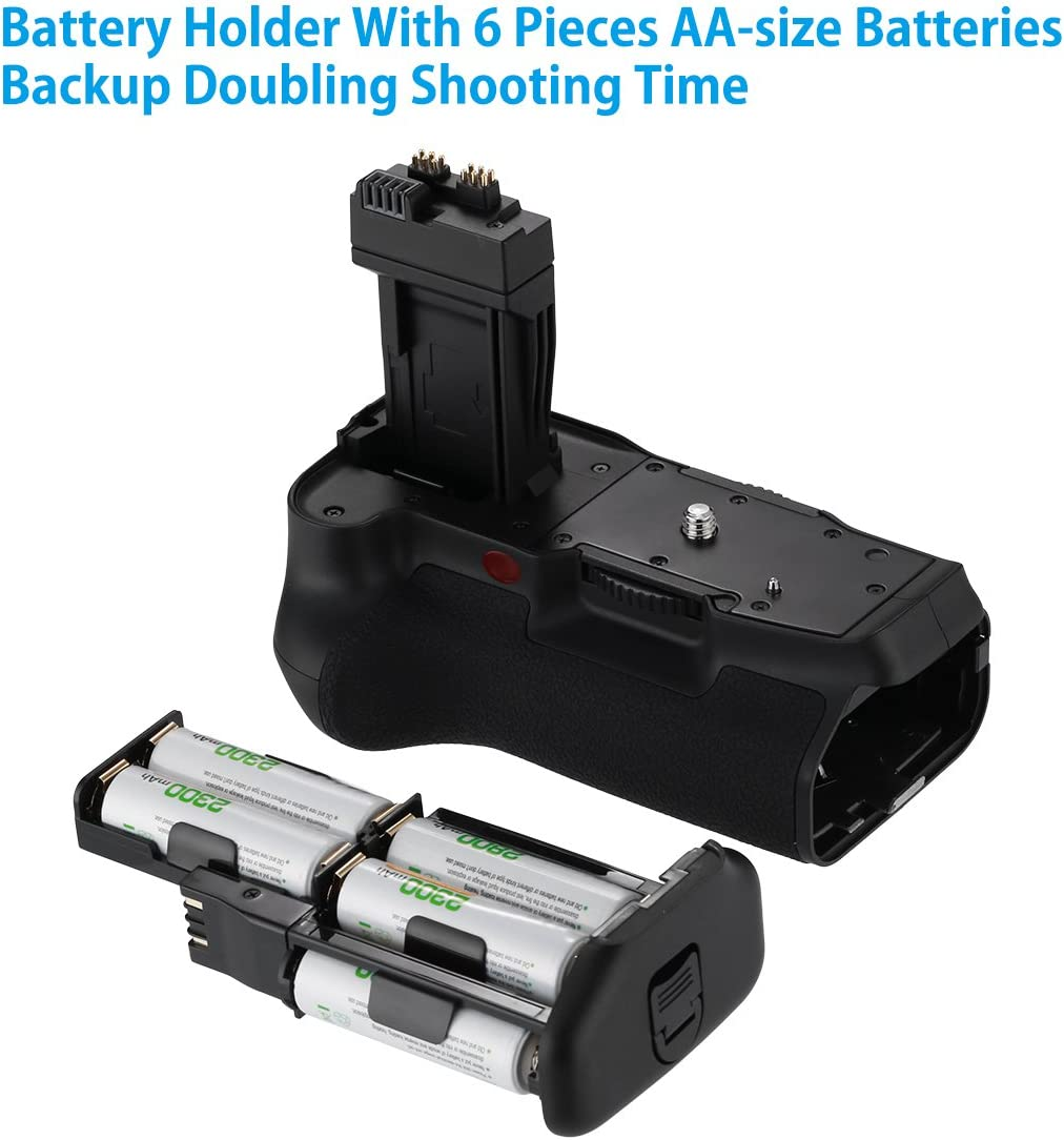 Powerextra BG-E8 Battery Grip for Canon EOS 550D//600D//650D//700D Rebel T2i//T3i//T4i//T5i SLR Cameras