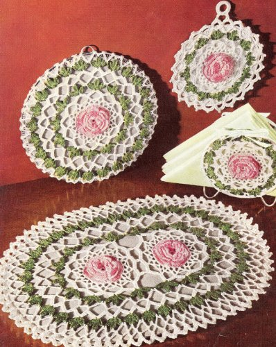 ERN to make - Irish Rose Hot Plate Pad Pot Holder. NOT a finished item. This is a pattern and/or instructions to make the item only. (Free Crochet Patterns Pot Holders)