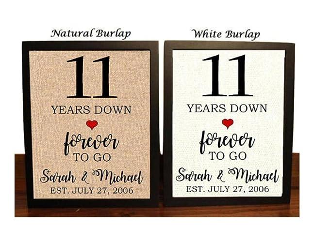 Amazon 11th Anniversary Burlap Gift 11th Wedding Anniversary
