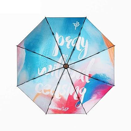 Sombrilla Rainbow Diary Sunshade Lightweight Mini protección UV para Mujer Paraguas Plegable THANSANDAU