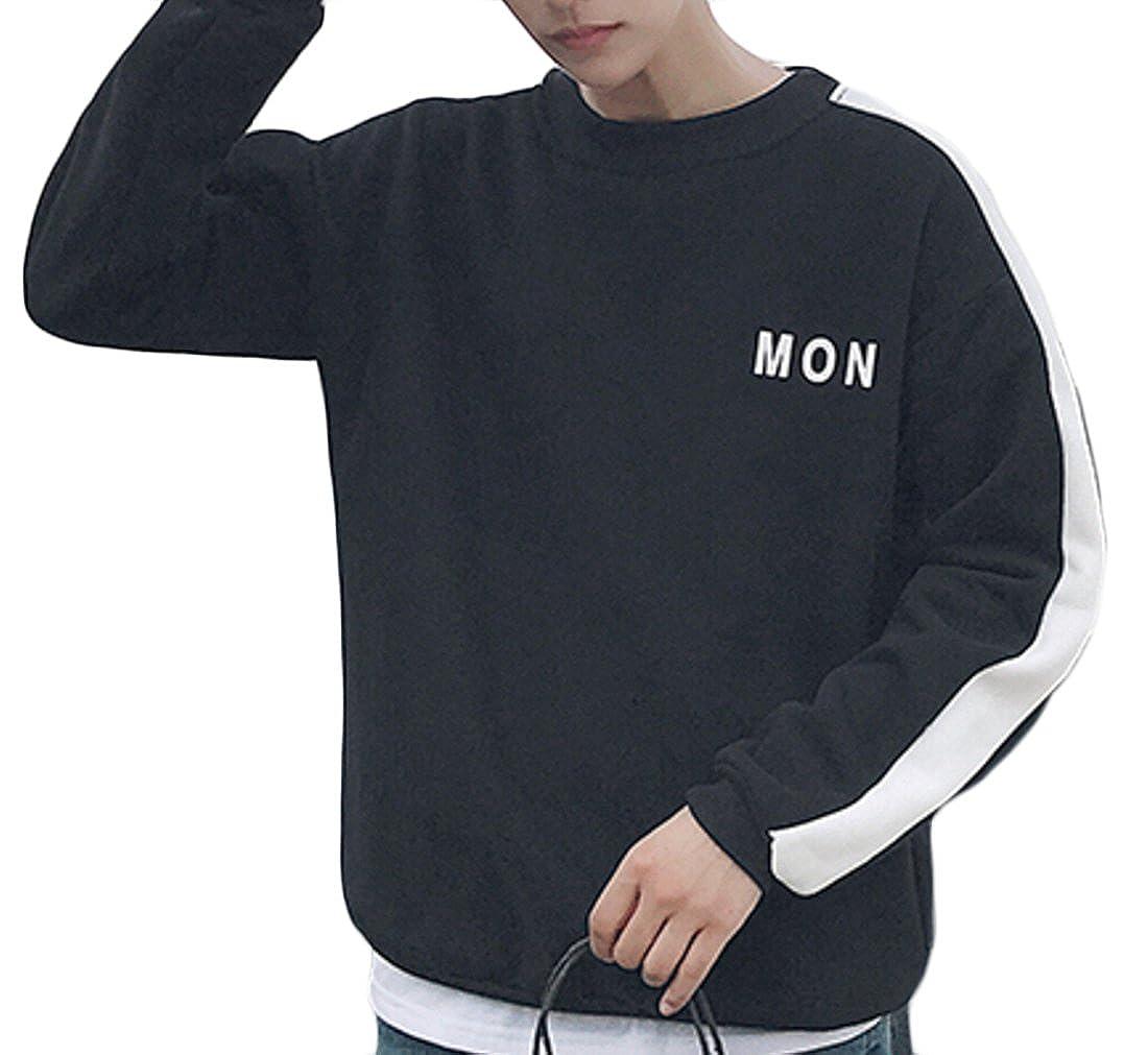 M/&S/&W Mens Thermal Casual Long Sleeve Fleece Sweatshirt